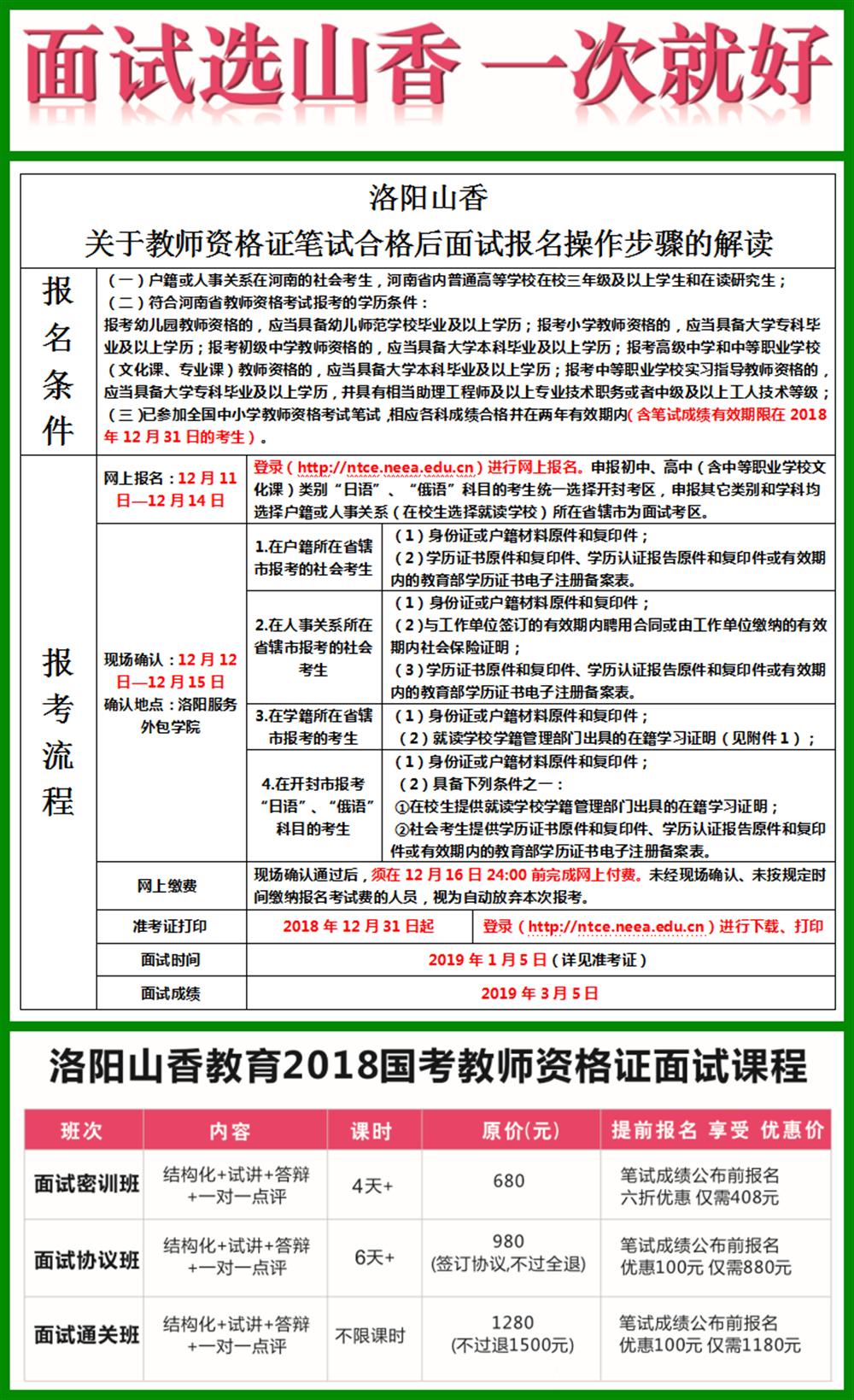 2019年教师资格证面试课程